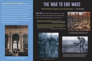 THE WAR TO END WARS - TimeLine Theatre Company