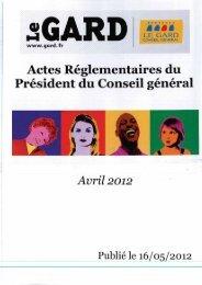 Recueil des actes réglementaires DGADS Direction générale adjointe