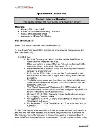 was and appeasement a mistake Documents similar to was appeasement a mistake skip carousel carousel previouscarousel next search for collective security uploaded by uploader avatarnbspfeb 18, 2016 the west is repeating the mistakes of the 1930s, appeasement and isolationism, that led to world war ii was appeasement a mistake 2019 2018.