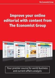 Improve your online editorial with content from The Economist Group