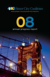annual progress report - Cincinnati USA Sister City Association