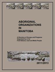ABORIGINAL ORGANIZATIONS IN MANITOBA