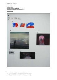 Miriam Cahn Artworks list PDF - Galerie Jocelyn Wolff