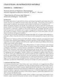 Olio di Oliva:un nutraceutico naturale - Bambino Progetto Salute