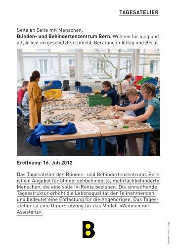 Eröffnung: 16. Juli 2012 - Blinden