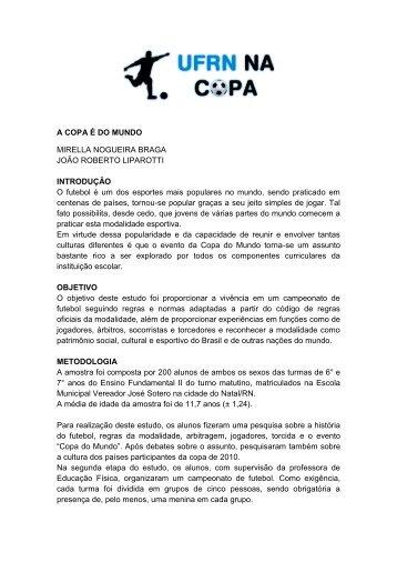 A COPA É DO MUNDO MIRELLA NOGUEIRA ... - UFRN na Copa