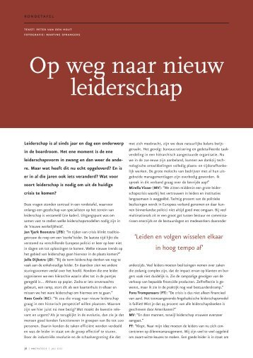 Op weg naar nieuw leiderschap - HR Strategie