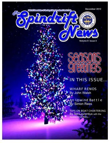 December 2012 Spindrift - the Royal Newfoundland Yacht Club
