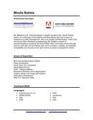 Mirella Batista - Flash ActionScript Developer || Adobe Certified Expert