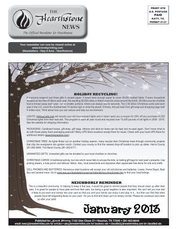 January 2013 - Krenek Printing