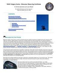 RASC Calgary Centre - Binocular Observing Certificate - Backyard ...