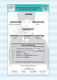 11.03.2013 DÖRTLÜ ÖZDENETİM - Rotary 2440.Bölge