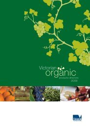 Victorian organic products directory 2009 - the Organic Federation of ...