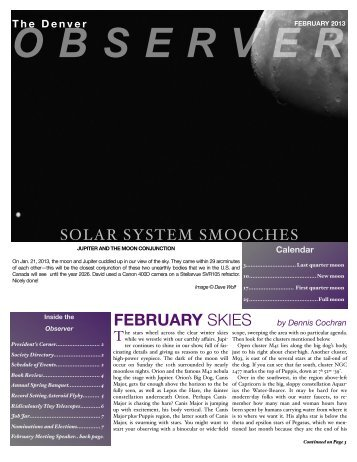 February 2013 - the Denver Astronomical Society