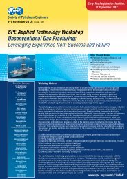 SPE Applied Technology Workshop Unconventional Gas ... - Sigma3