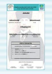 23.01.2013 DÖRTLÜ ÖZDENETİM - Rotary 2440.Bölge