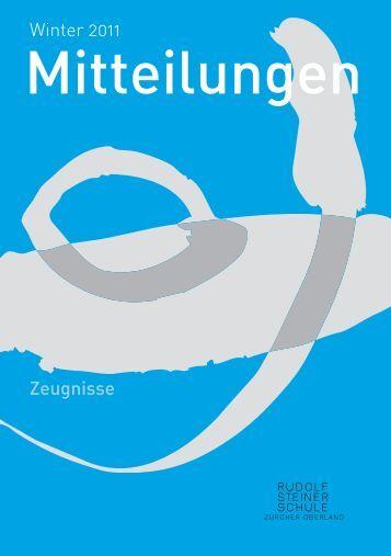 NEU - Rudolf Steiner Schule Zürcher Oberland