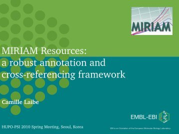 MIRIAM Resources: a robust annotation and crossreferencing ...