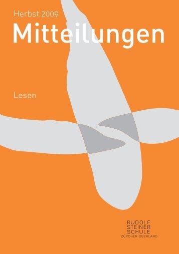 Mitteilungen - Rudolf Steiner Schule Zürcher Oberland