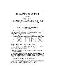 The Academy Corner: No. 49