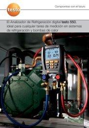 Catálogo analizador de refrigeración digital testo 550 - Logismarket