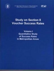 Study on Section 8 Voucher Success Rates: Volume I ... - HUD User