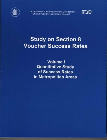 Study on Section 8 Voucher Success Rates: Volume I ... - HUD User