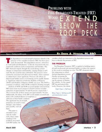 Problems with Fire Retardant Treated (FRT) Wood Extend Below the ...
