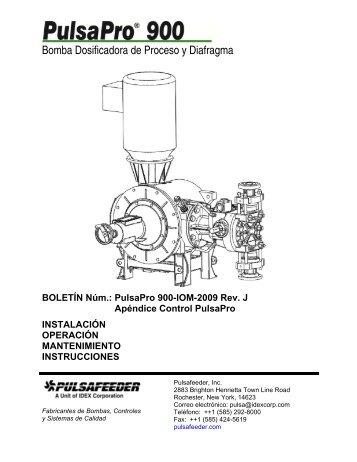 Bomba dosificadora de membrana hidraúlica hasta 1110 l