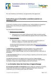 Instructions pour la formation - Hotel & Gastro Union