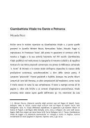 Giambattista Vitale tra Dante e Petrarca - Associazione degli ...