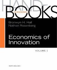 Handbook of the Economics of Innovation, Volume 1 - PEEF's Digital ...