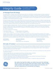 Integrity guide - GE Energy