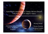 Astrometric monitoring of binary brown dwarfs with PARSEC