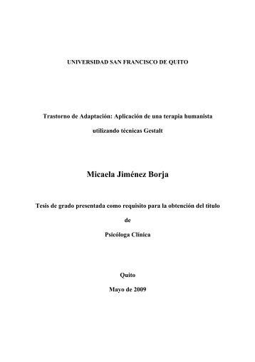 Micaela Jiménez Borja - Repositorio Digital USFQ - Universidad ...