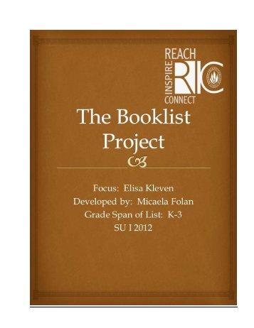Kleven, Elisa Author Study Booklist by Micaela Folan - RITELL