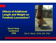 Effects of Additional Length and Weight on Forelimb Locomotion n n?