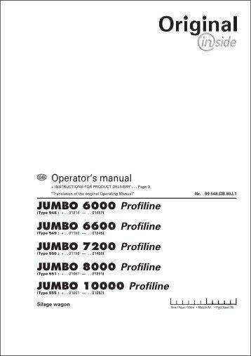 JUMBO 6000 Profiline JUMBO 6600 Profiline JUMBO 7200 Profiline ...