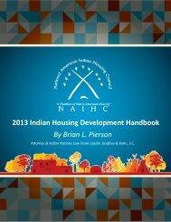 2013 Indian Housing Development Handbook By Brian L. Pierson