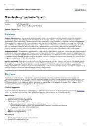 Waardenburg Syndrome Type 1