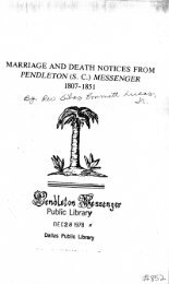 Marriage and Death Notices from Pendleton (SC) Messenger, 1807 ...