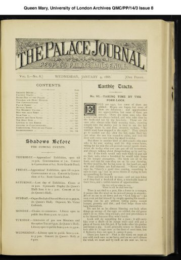 Queen Mary, University of London Archives QMC/PP/14/3 Issue 8