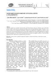 ninhydrin-based forensic investigations i. fingerprints - International ...