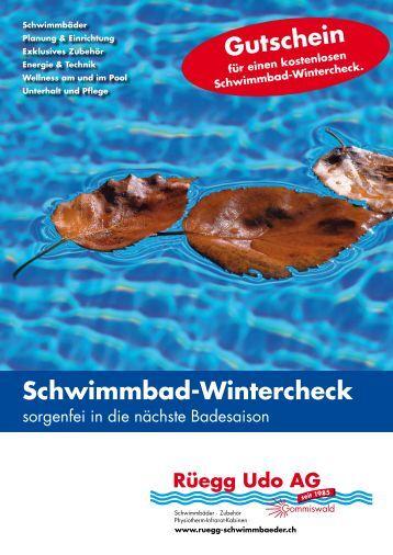 Fit für den Winter Der Wintercheck beinhaltet - Rüegg Udo AG ...