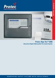 6300 Control Panel - Protec Fire Detection