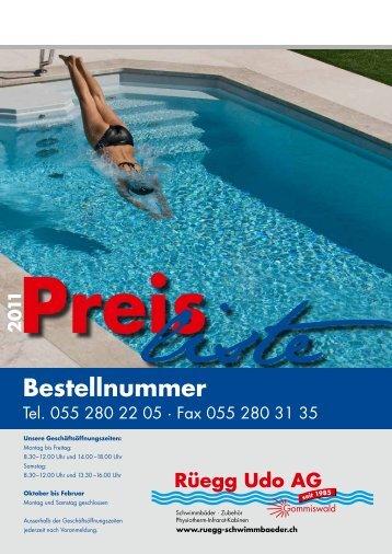2 0 11 Bestellnummer - Rüegg Udo AG, Gommiswald