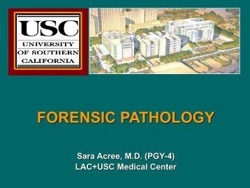 FORENSIC PATHOLOGY - Los Angeles Society of Pathologists, Inc.