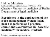 Helmut Maxeiner Charite - University medicine of Berlin Department ...