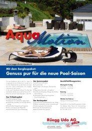 Genuss pur für die neue Pool-Saison - Rüegg Udo AG, Gommiswald