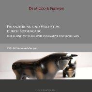 IPO/ Reverse Merger - De Micco & Friends